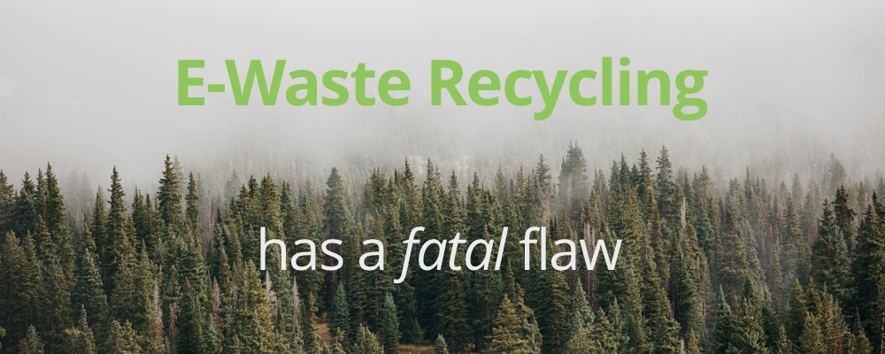 Recycling E-Waste: Important, but Not Enough