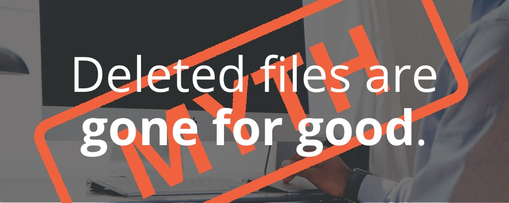 When does deleting a file not delete it?